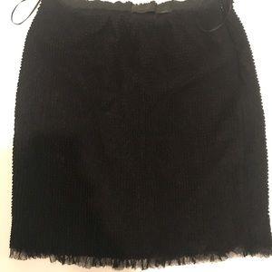Proenza Schouler Black silk skirt